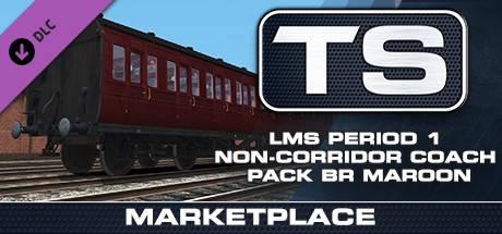 TS Marketplace: LMS Period 1 Non-Corridor Coach Pack BR Maroon - PC